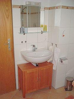 Ferienwohnung mit Terrasse - Das Badezimmer