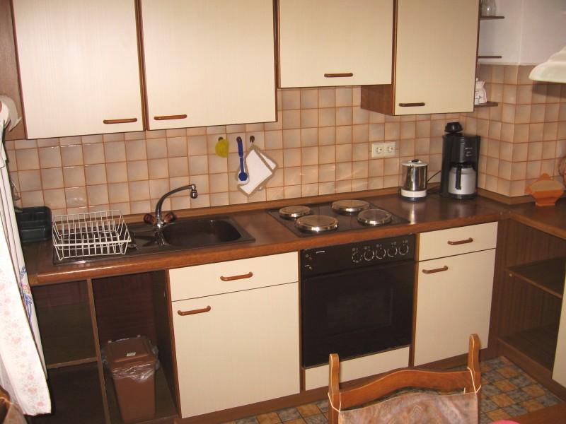 Ferienwohnung mit Terrasse - Die Küche