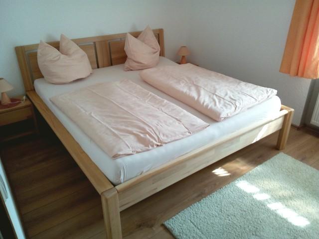 Ferienwohnung mit Terrasse - Das Schlafzimmer