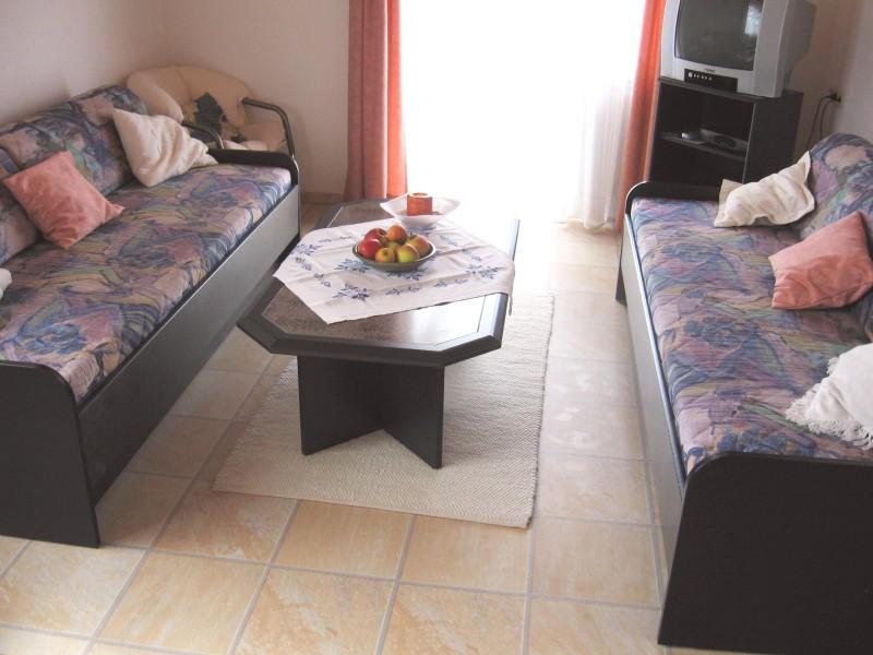 Ferienwohnung mit Terrasse - Das Wohnzimmer